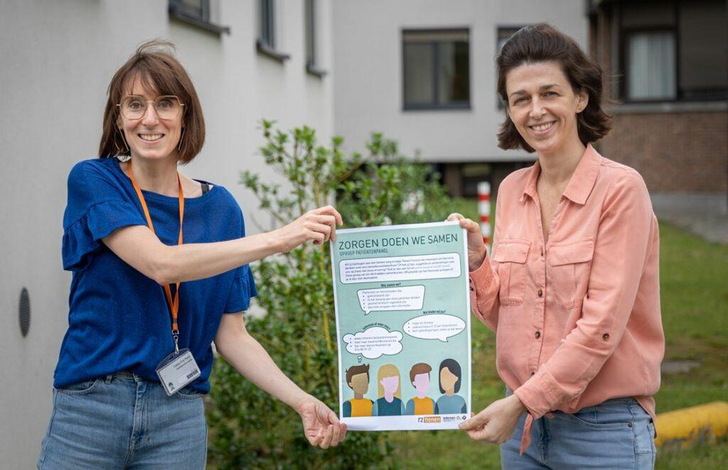 Eva Marie Castro (diensthoofd Kwaliteit en Procesoptimalisatie) en Sigrid Van De Poel (projectmedewerker)